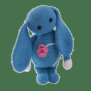 Blue iepurică dragălașă croșetată manual