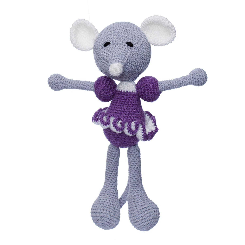 Șoricica Baby Kate, Jucărie Croșetată Manual Din Bumbac 100%