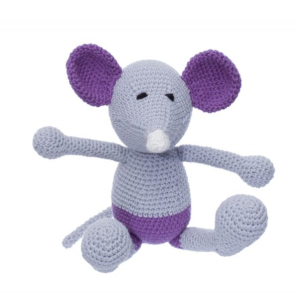 Șoricelul Baby Chiț jucărie croșetată manual