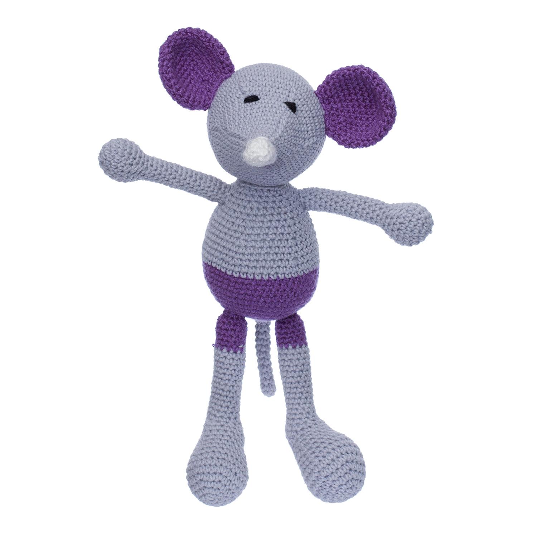 Șoricelul Baby Chiț, Jucărie Croșetată Manual Din Bumbac 100%