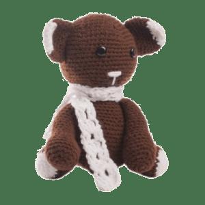 Bruno ursuleț croșetat manual merge la cules de mure