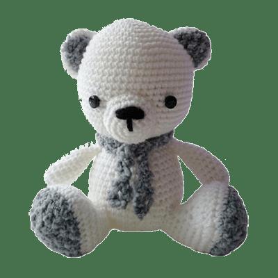 Ursulețul Polar Cody, Jucărie Croșetată Manual