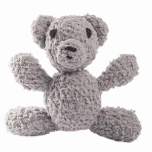 Ursuletul Manole micul pufos culoare gri jucărie croșetată